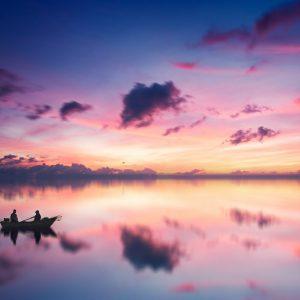 Sunset boat ride Lake Victoria